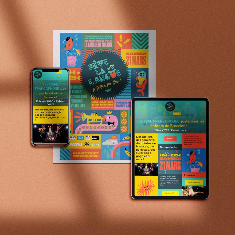 web para festival en barcelona con compra de entradas online por Alcanix