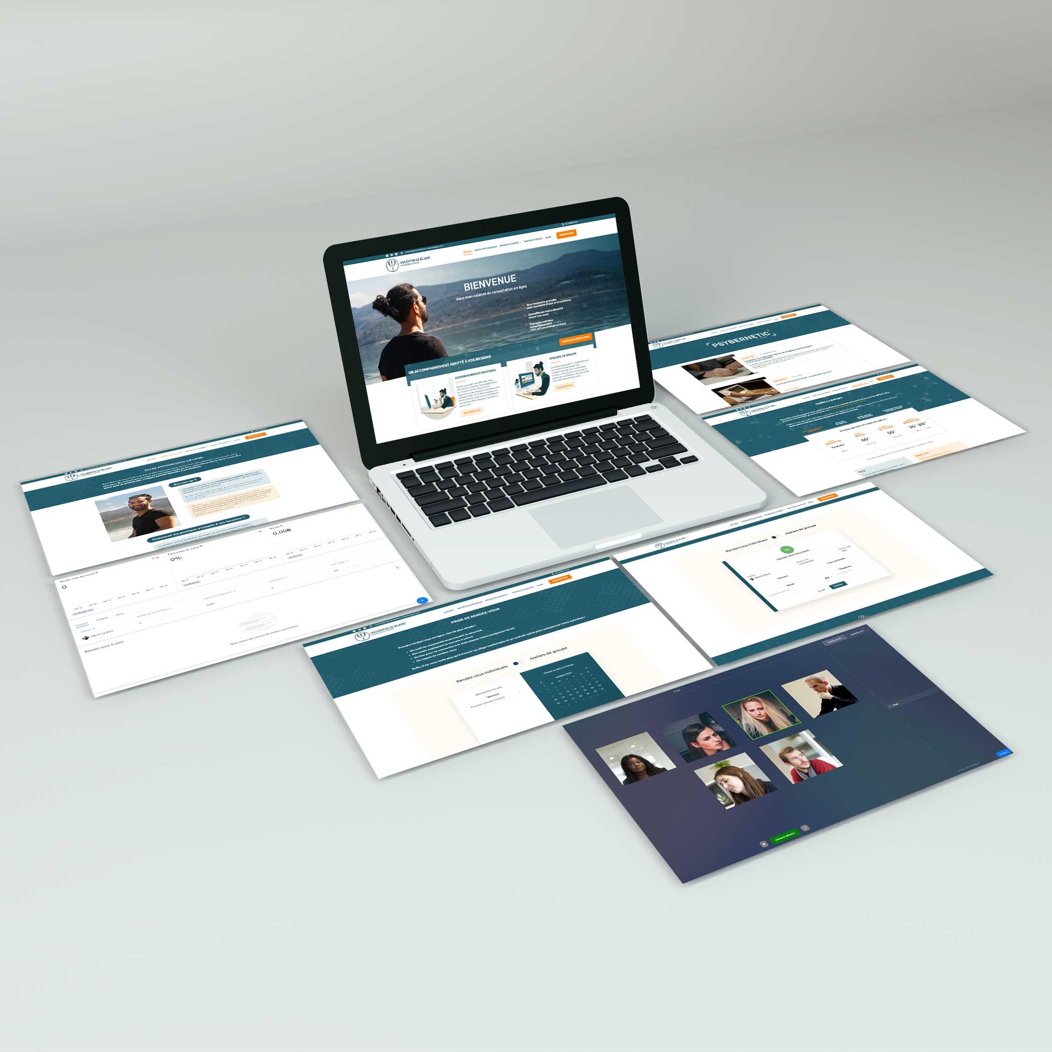 Web con reserva online y visio conferencia integrada